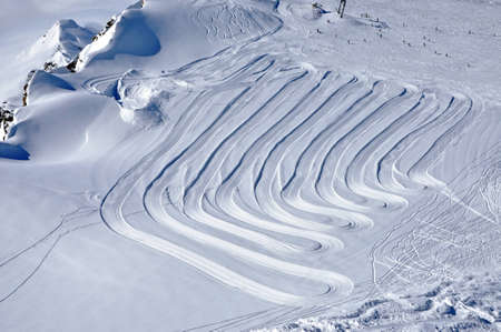 Slopes in Kitzsteinhorn ski resort near Kaprun, Austrian Alps Stock Photo - 12850033