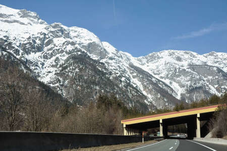 Mountain highway in the beautiful austrian Alps  photo