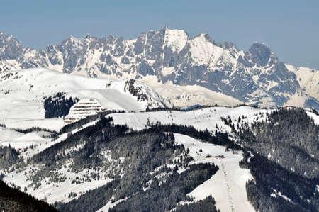 Winter in Zell am See ski resort, near Kaprun, Austrian Alps Stock Photo - 12850044