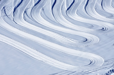 Cross-country skiing slopes in the Austrian Alps, ideal for background Stock Photo - 12850357