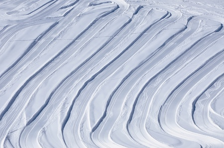 Slopes in the ski resort Kitzsteinhorn, Austrian Alps photo
