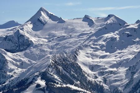Kitzsteinhorn peak and ski resort, Austrian Alps Stock Photo - 12850358