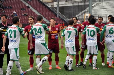 cfr cluj: CLUJ NAPOCA, ROMANIA – APRIL 22: Ceremony at the beginning of CFR Cluj – Concordia Chiajna match, April 22, 2012 in Cluj Napoca, Romania