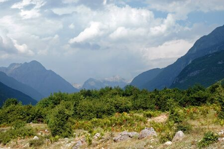 serbia and montenegro: Theth, Prokletije mountains in the Dinaric Alps, Albania