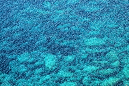 Beautiful clear, turquoise sea water, ideal for background photo
