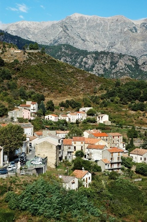 The village of Vivario, Haute-Corse, Corsica, France  photo