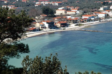 Small fishers village on the beach  photo