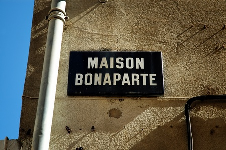 The birthplace of Napoleon Bonaparte in Ajaccio, Corsica, France