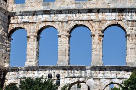 roman amphitheatre: Anfiteatro romano, el Coliseo en Pula, Istria, Croacia