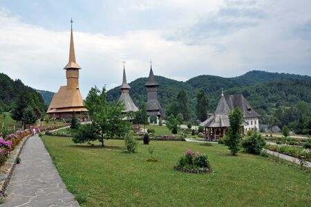 Barsana orthodox wooden monastery complex Stock Photo - 16479114