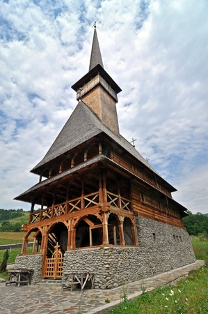 Rozavlea orthodox wooden monastery photo