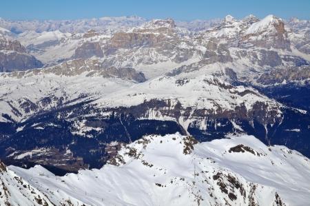 Snow covered mountains in the Italian Dolomites, Dolomiti photo