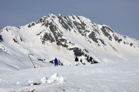 Skiing in the Austrian Alps, Saa;bach, Tirol Stock Photo - 16700884