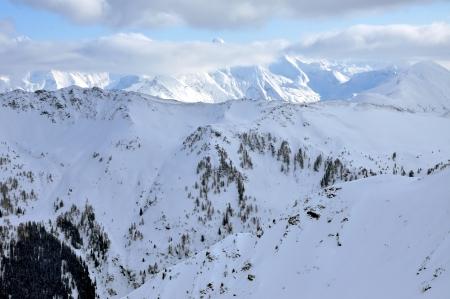 wintersport: Skiing in the Austrian Alps, Saalbach, Tirol