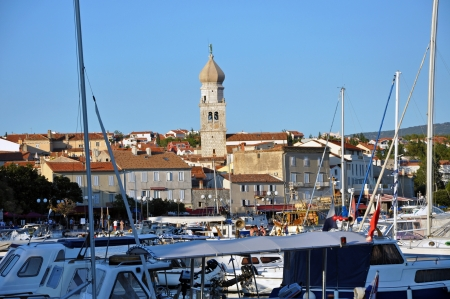 KRK, CROATIA – AUGUST 1: The harbour of the beautiful town of  Krk, on  August 1, 2012 in Croatia. Krk is one of the most visited towns in Croatia Stock Photo - 17268916