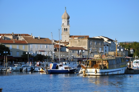 KRK, CROATIA – AUGUST 1: The harbour of the beautiful town of  Krk, on  August 1, 2012 in Croatia. Krk is one of the most visited towns in Croatia Stock Photo - 17268920