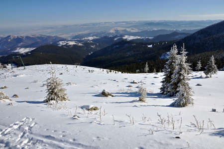 Winter in the mountains. Vladeasa mountains, Transylvania, Romania Stock Photo - 17295057
