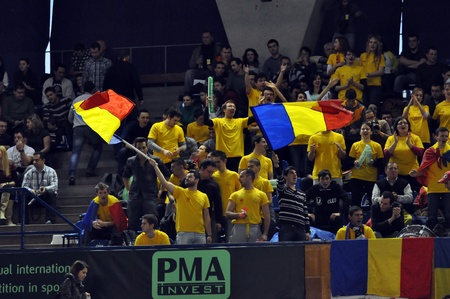 florin: The Romanian fans supporting their favorites