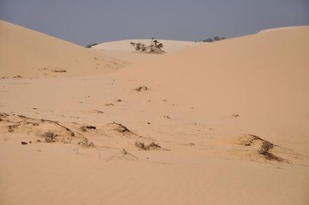 White Sand Dunes in Mui Ne, Vietnam photo