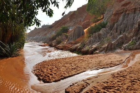 stratification: Ham Tien canyon near Mui Ne, Vietnam  Stock Photo