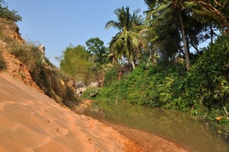 stratification: The Fairy stream near Mui Ne, Vietnam