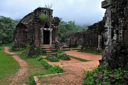 My Son temple ruins, Vietnam Stock Photo