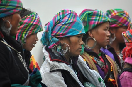 Group of Flower Hmong women in Sapa, Vietnam
