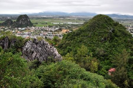 nang: View from the Marble mountains, Da Nang, Vietnam