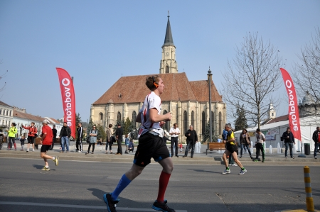 cluj: April 21, 2013 - Cluj Napoca, Romania: Participants running at the Cluj International Marathon