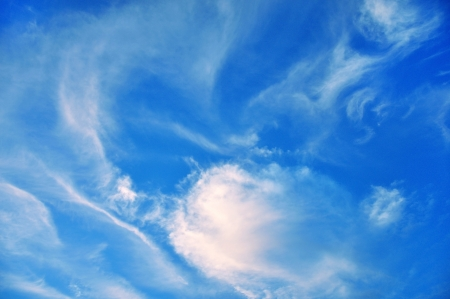 Background with blue sky with clouds photo