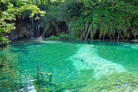 Lake in Plitvice National Park, Croatia photo