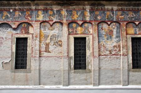 fresco: Orthodox painted murals, fresco on a church