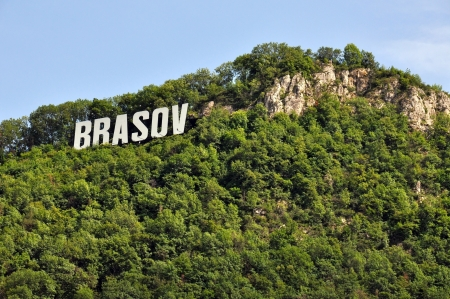 The name of the Brasov city in Romania in volumetric letters photo