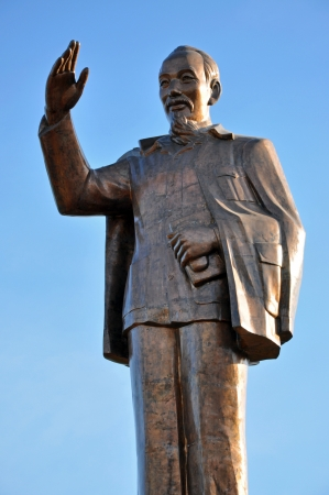The statue of Ho Chi Minh communist revolutionary leader photo