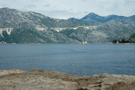 Perast island and the Kotor bay in Montenegro photo