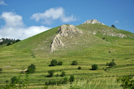 Green hills and meadows, pasture photo
