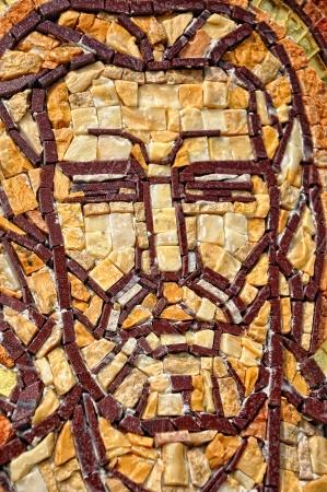 Byzantine mosaic of a saint apostle