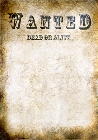 Antiek poster - Wanted dead or alive