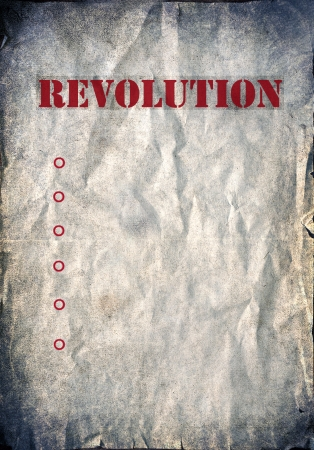 Vintage background, revolution poster photo