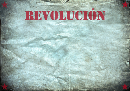 Vintage background, revolucion poster photo