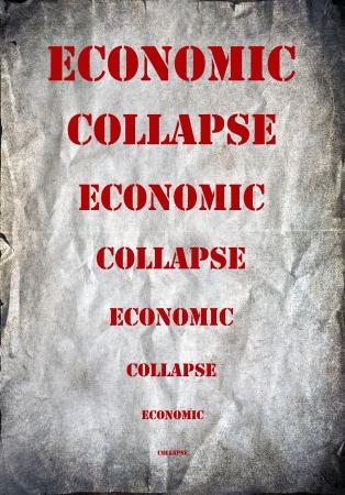effondrement: Lettres de l'effondrement �conomique sur un fond de grunge Banque d'images
