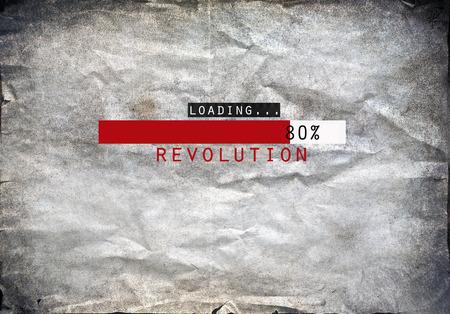 Loading revolution draw on a grunge background