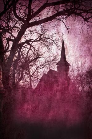 Horror castle  版權商用圖片