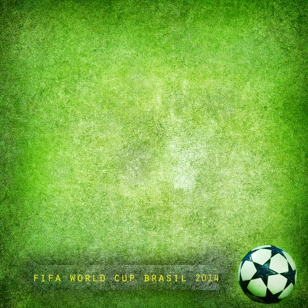 Grunge green background Brazil 2014