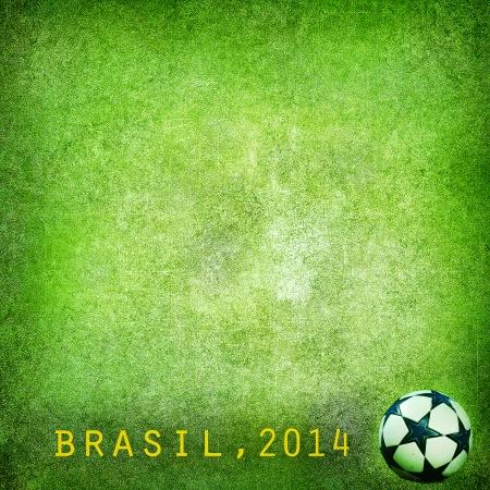 Grunge background Brazil 2014, FIFA World Cup