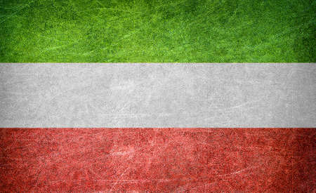 Grunge flag of Iran  photo