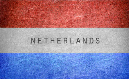 Grunge Netherlands flag  photo