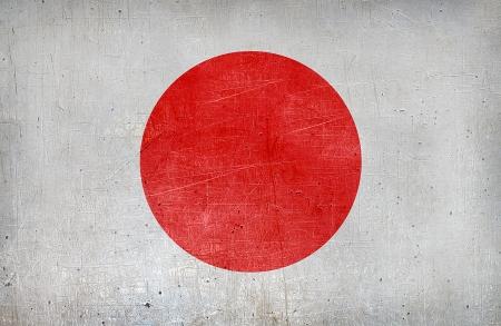 日本のグランジ フラグ 写真素材