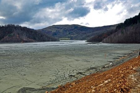 Contaminated lake mud photo