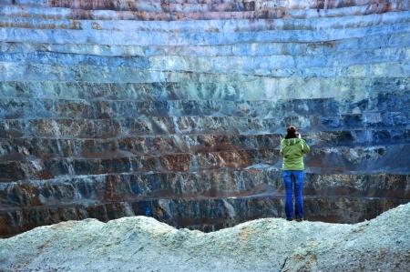 Open pit gold mine in Rosia Montana, Romania photo
